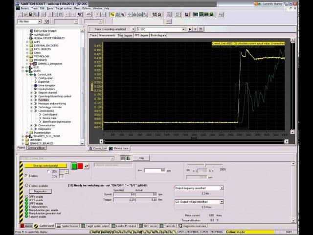 Вебинар Sinamics G120 S120 ввод в эксплуатацию