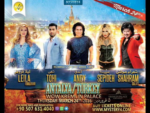Mystery4 Nowruz 1395 Concert Series in Antalya Turkey 5 Farvardin