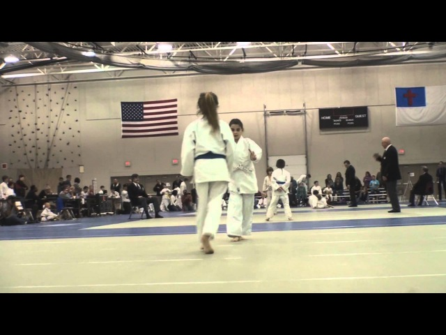 Taliah vs. Rivkah - Match 2 - Wahadachi Judo Tournament - Milwaukee, Wisconsin