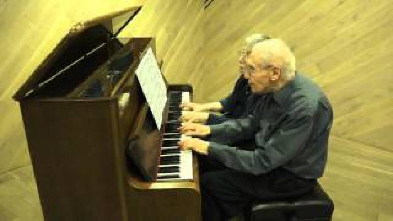 Márta and György Kurtág play Bach transcriptions by Kurtág