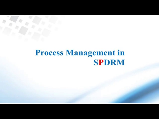 CAE Process Management with SPDRM