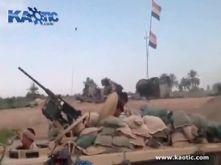 Iraqi soldiers celebrate taking an outpost a little too early