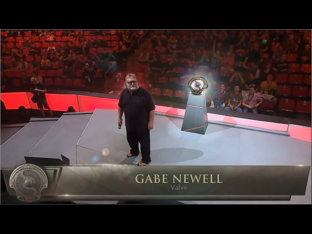 Гейб Ньюэлл открытие Интернешнл 2016 The International 2016 Introduction Gabe Newel