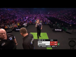 James Wade vs Gary Anderson (2017 Premier League Darts / Week 14)