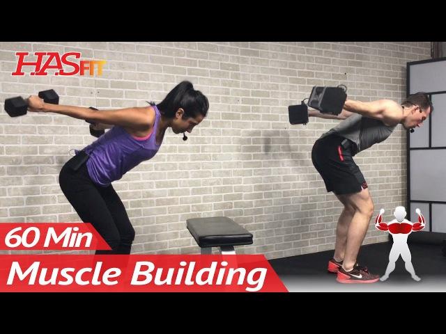 HASfit 60 Min Upper Body Workout Силовая тренировка для верхней части тела рост мышц