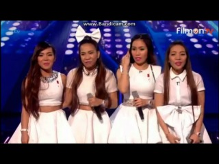 """4th Impact sings song (""""Problem"""") on X Factor UK 2015 Live Week 1 (Full)"""