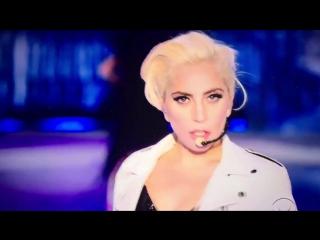 "Lady Gaga on runway ""Victoria's Secret Fashion Show"" in Paris on 10 inch heels"
