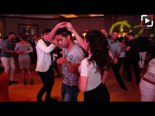 Jennifer Geyer y Jorge Martinez social dancing at Houston Salsa Congress 2017