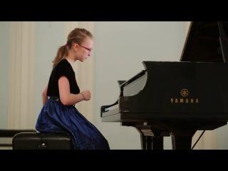 Olga Ivanenko 11 yo. Grand Piano Competition, 1 round. S. Rachmaninov - Musical moment