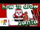 How To Draw Cartoon Santa Claus