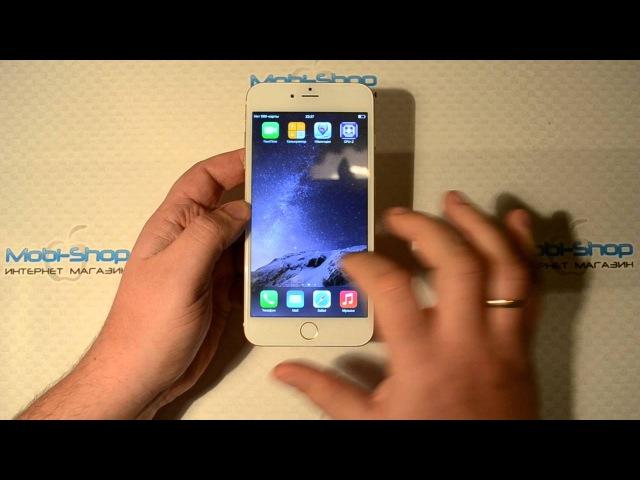 Обзор iPhone 6 Plus лучшая корейская копия 100% точная RAM 2 5Gb 5 5 MTK6582 4 ядра Touch ID