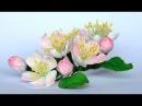 Kwiaty jabłoni z foamiranu tutorial цвет из фоамирана foamiran flowers apple blossoms