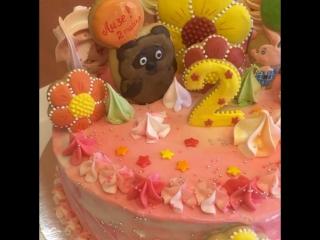 Тортик на 2 годика для Лизочки!