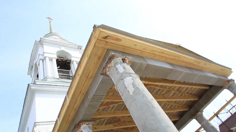 Строительство входной группы у Храма Святой Троицы!!! Уже есть крыша!!! 02.04.2017
