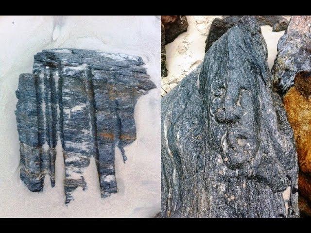 Игорь Алпатов Славянские лики на камнях пляжа в Бруклине часть 3