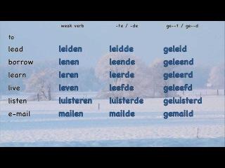 Dutch verbs (1/6 a): List of weak verbs (A-P) - 150 weak verbs - Lijst van zwakke werkwoorden