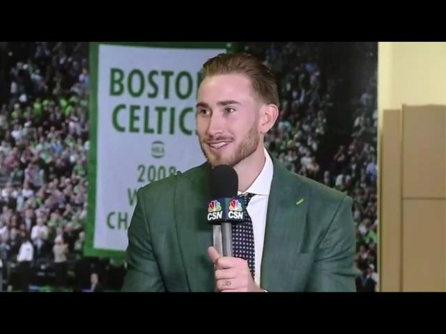 Gordon Hayward Interview 2017 Iriving Hayward Press Conference Boston Celtics