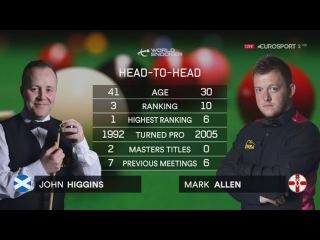 John Higgins v Mark Allen Masters 2017