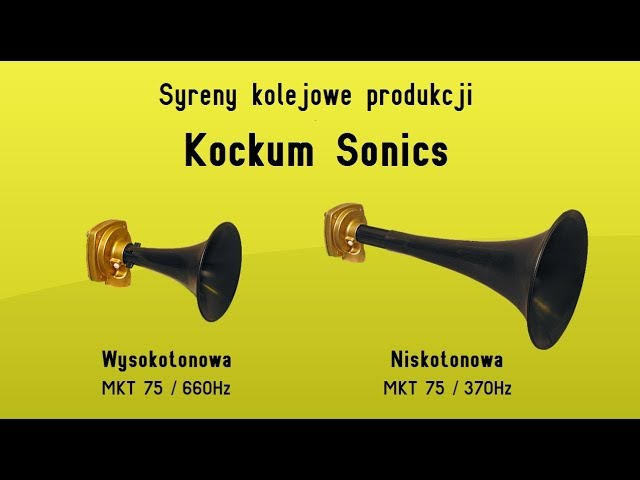 Syrena kolejowa produkcji Kockum Sonics w samochodzie