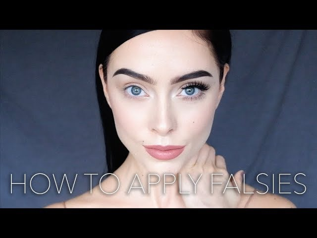 MAKEUP TUTORIAL How to apply falsies