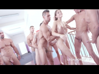 Gio431 - 9on1 double anal gang bang with evelina darling full hd 1080p