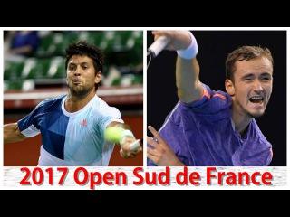 Fernando Verdasco vs Daniil Medvedev 2017 Open Sud de France Highlights by ACE