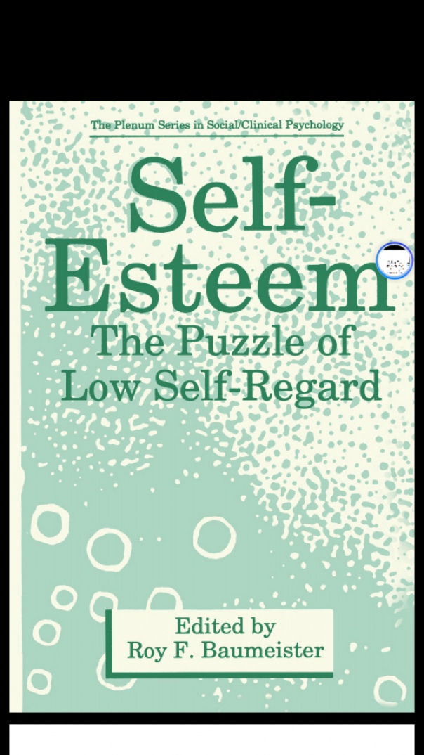 self esteem the puzzle of low self regard
