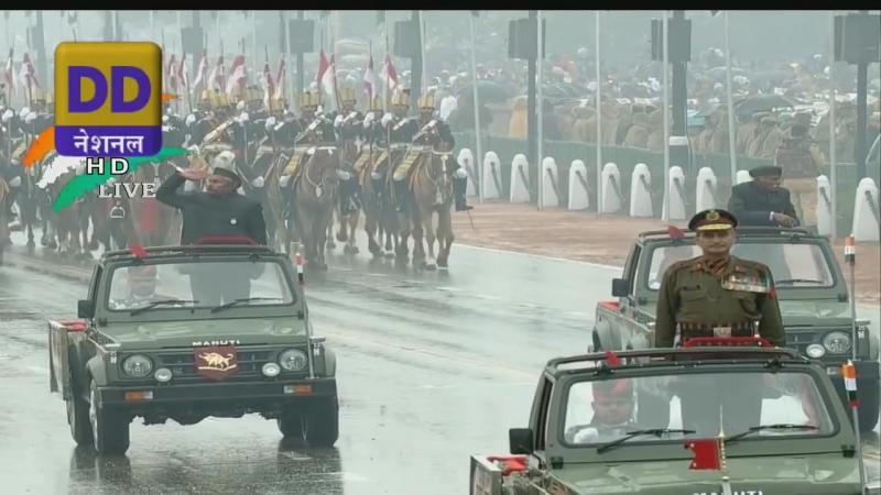 Doordarshan National Индия День Республики Parade 2015 Полный армии Активы сегмента 720p