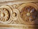 Вырезаем деревянный цветок Георгин на деревянный карниз для штор