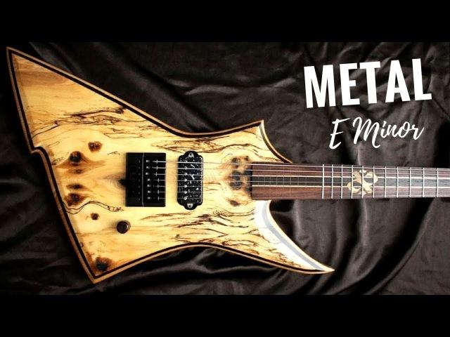 Wild Majestic Metal Guitar Backing Track Jam in E Minor
