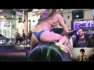 Hotest & wildest girls - bull riding! (Megapack 2016-2017! HD) Funny videos