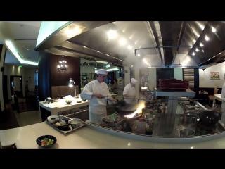 I cook asian food#mangolian beef#from kiev#welkome my friends#in hyatt#