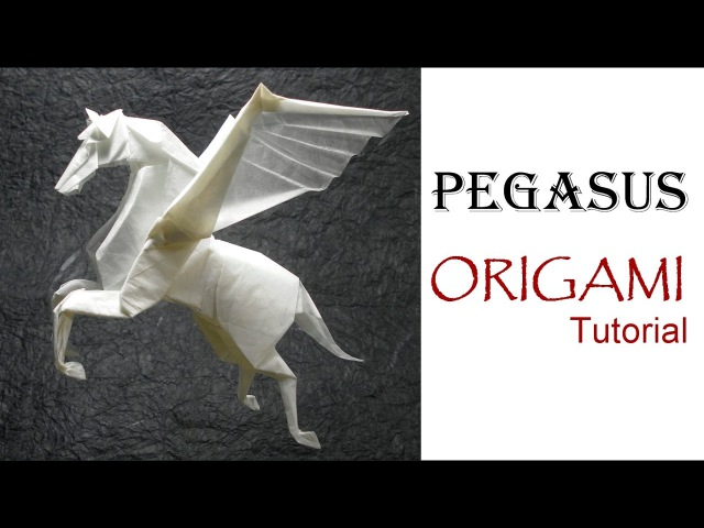 ORIGAMI PEGASUS TUTORIAL Fumiaki Kawahata 折り紙 馬 ペガサス оригами учебник Пегас лошадь PFERD