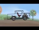 Мультфильм - Конструктор - машина пикап - развивающие мультики про машинки от 3 лет