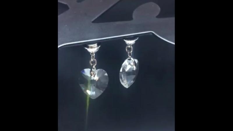Сердечки подвески из кристалла