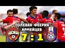 ЦСКА Мордовия 7 1 Голевая феерия Армейцев ● CSKA Mordovia 7 1 ▶ iLoveCSKAvideo
