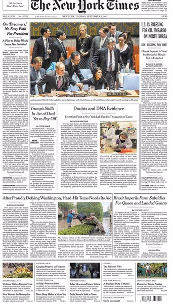 The New York Times September 05 2017