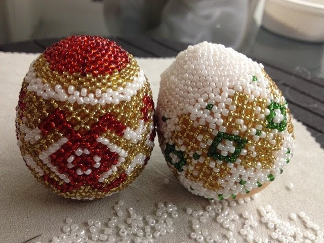 Osterei aus Glasperlen Teil 1 2 Easter egg out of beads Part 1 2