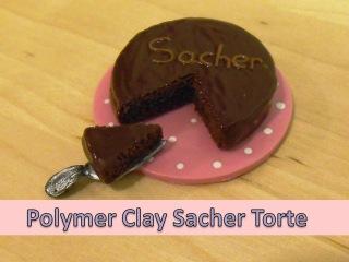 "Miniature ""Mary Berry's"" Chocolate Sacher Torte - Polymer Clay TUTORIAL"