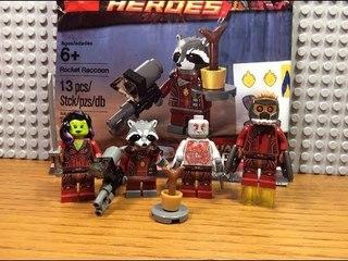 ОБЗОР НЯШНОГО ЛЕГО ПОЛИБГЕА С ЕНОТОМ РАКЕТОЙ :3 / LEGO GUARDIANS OF THE GALAXY 5002145 POLYBAG