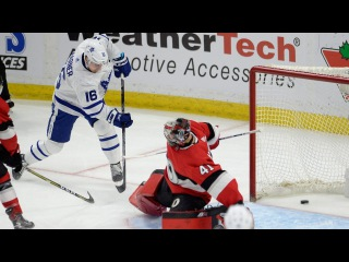 Marner beats Oduya wide, curls and drags past Anderson