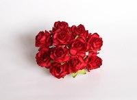 000019 Кудрявые розы 3 см КРАСНЫЕ  1 шт - 12 руб  диаметр 3 см высота 2 см длина стебля 8 см