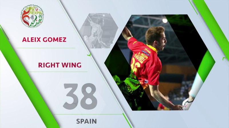 Aleix Gomez (ESP) - All-star right wing   IHFtv - Algeria 2017 Mens Junior WCh