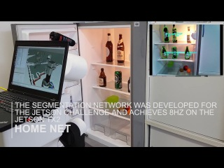 Robot brings autonomously beer from the fridge NVIDIA Jetson Challenge