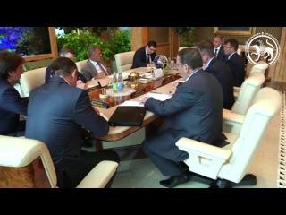 Президент Татарстана встретился с руководством Уральской горно-металлургическ...