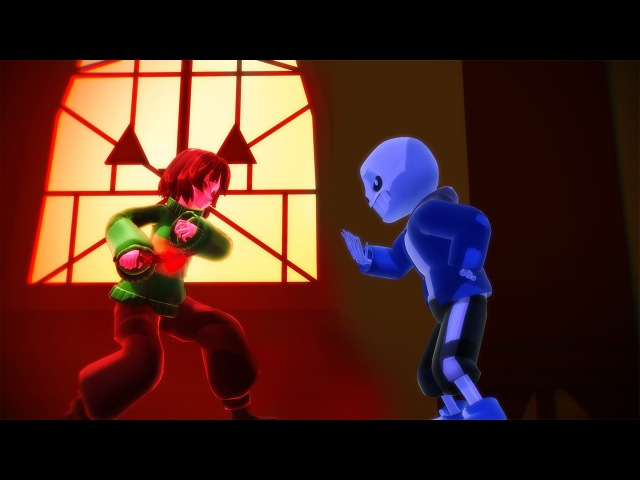 Stronger Than You Chara and Sans [ MMD Undertale ]