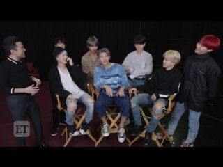 [video] #btsxet @bts_twt had no trouble answering this first question!