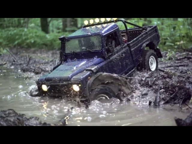 4x4 off road mudding rc Land Rover Defender 110 HCPU