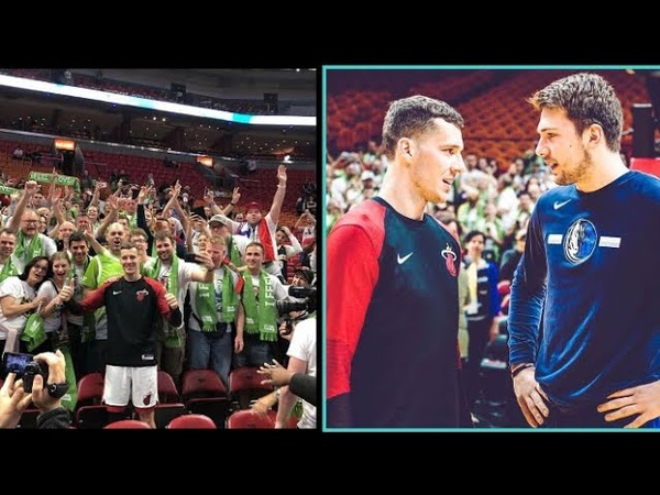 Luka Doncic vs Goran Dragic huge contingent of Slovenian fans flew to Miami to witness the game.