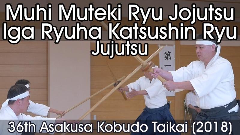 Muhi Muteki Ryu Jojutsu Iga Ryuha Katsushin Ryu Jujutsu 36th Asakusa Kobudo Taikai 2018